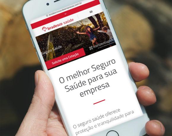 Site Bradesco Saúde Empresas